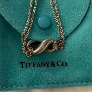 Tiffany and co infinity necklace